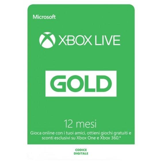 Xbox Live Gold 12 Mesi