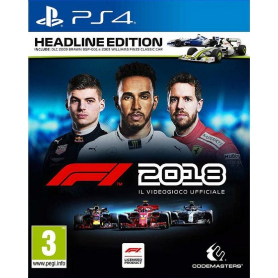 F1 2018 - Headline Edition - PS4