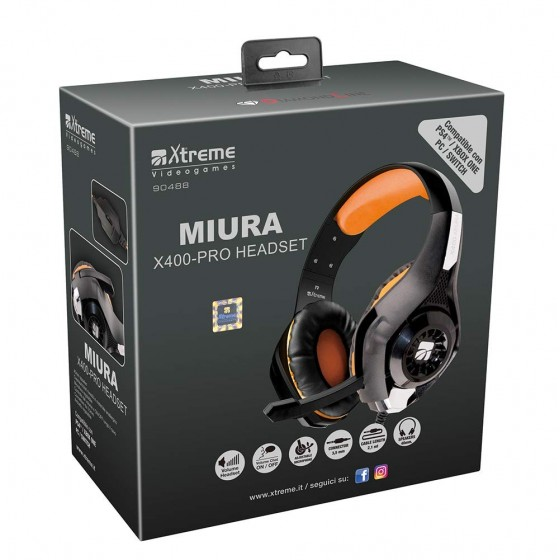 Cuffie Gaming Miura X400 Pro Xtreme - PS4/ONE/SWITCH