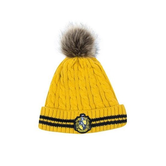 Cappello Pom-Pom - Tassorosso - Harry Potter