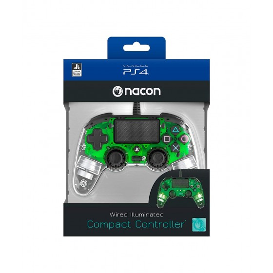 Compact Controller Nacon - Verde Luminoso - PS4
