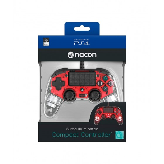 Compact Controller Nacon - Rosso Luminoso - PS4