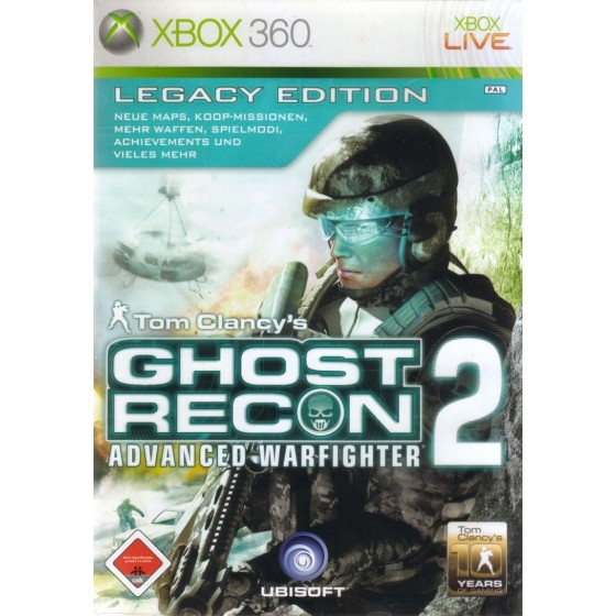 Tom Clancy's Ghost Recon: Advanced Warfighter 2 - Legacy Edition - Xbox 360 usato