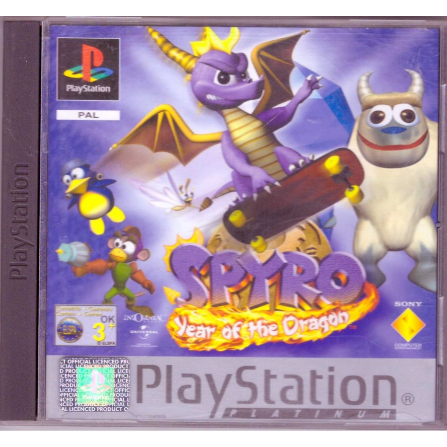 Spyro Year of the Dragon - Platinum - PS1