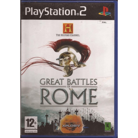 The History Channel Great Battles of Rome - PS2
