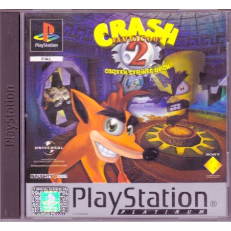 Crash Bandicoot 2 Cortex Strikes Back - Platinum - PS1