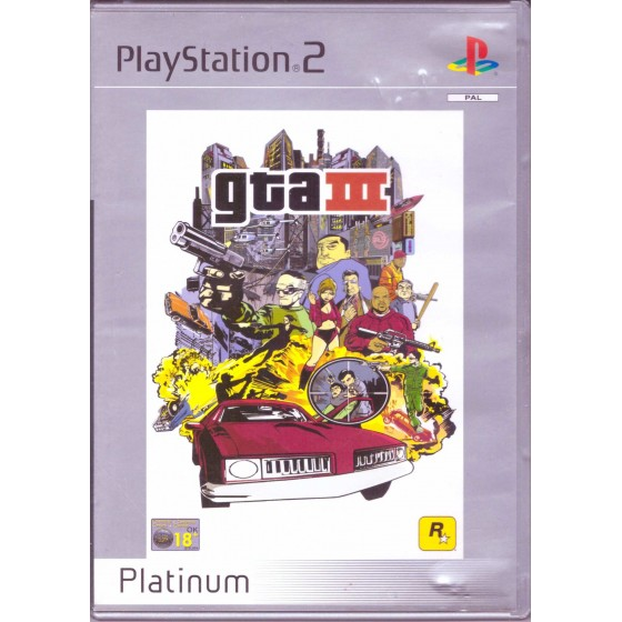 GTA III - Platinum - PS2