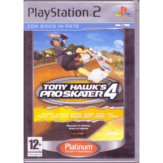 Tony Hawk's Pro Skater 4 - Platinum - PS2