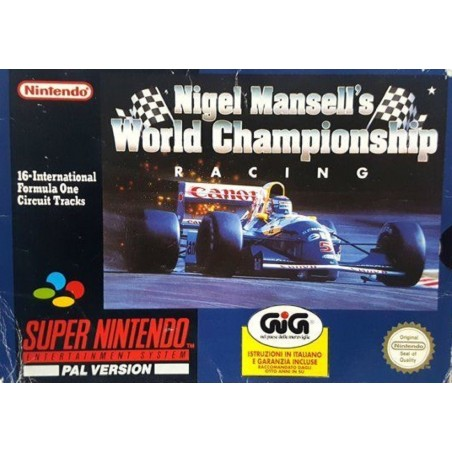 Nigel Mansell's World Championship Racing - SNES