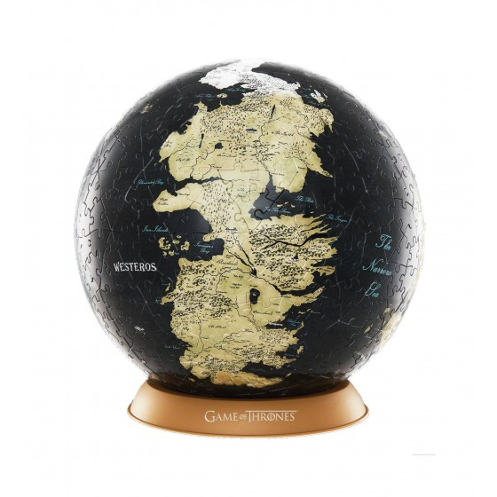 3D Puzzle - 3D Globe Puzzle Unknown World (240 pezzi) - Game of Thrones