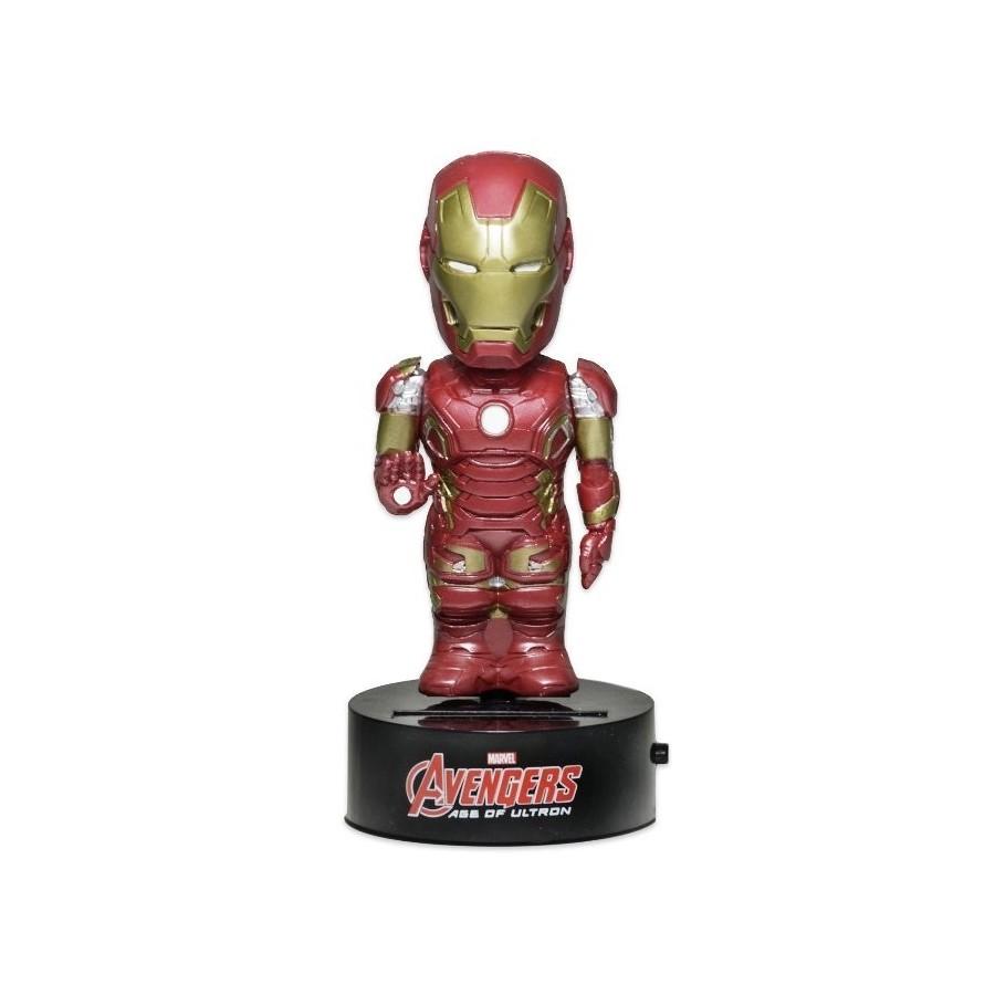 Neca - Avengers Age Of Ultron - The Iron Man Solar Powered Body Knocker Figure