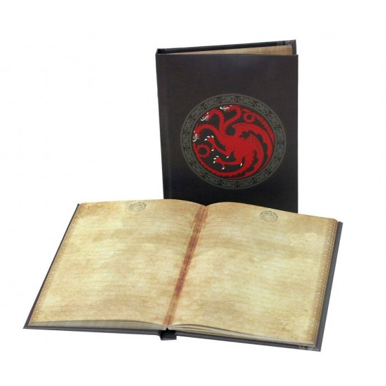 Notebook A5 with Light - Targaryen - Game of Thrones