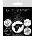 Spille - Badges 5 Pack Winter Is Coming - Game of Thrones