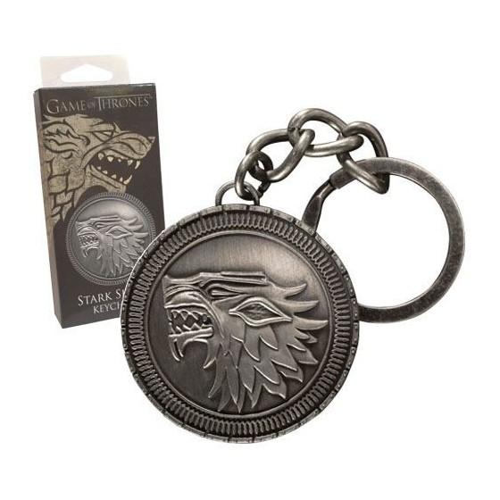 Portachiavi in metallo - Scudo Stark - Game of Thrones