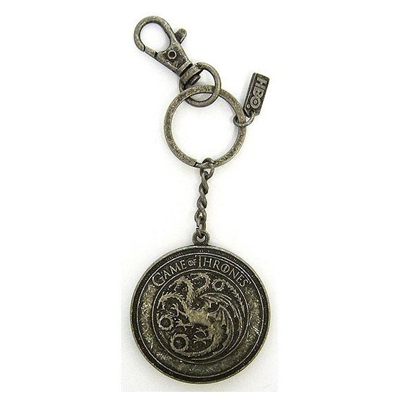Portachiavi in metallo - Scudo Targaryen - Game of Thrones