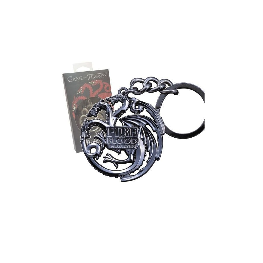 Game of Thrones Metal Keychain Targaryen Sigi