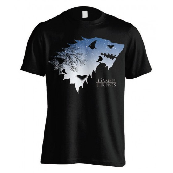 T-Shirt - Stark & Crows - Game of Thrones - The Gamebusters