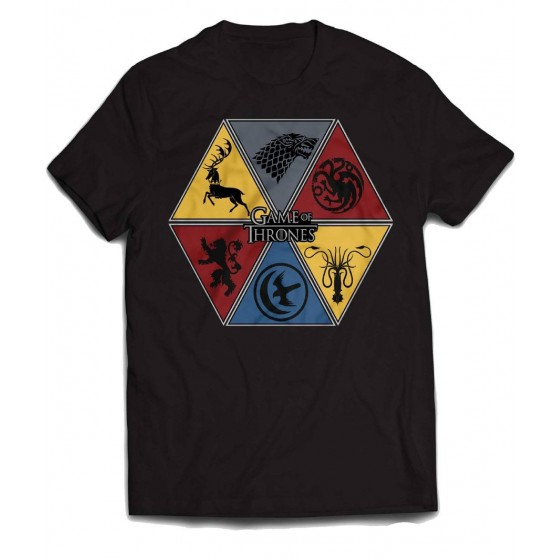 Game of Thrones - T-Shirt Kingdom Divided - The Gamebusters