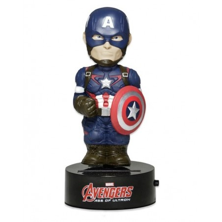 Neca - Avengers Age Of Ultron - The Capitan America Solar Powered Body Knocker Figure