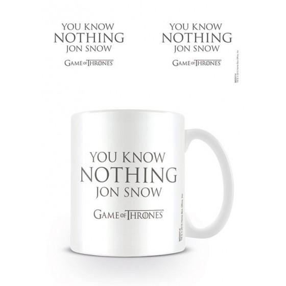 Game of Thrones Mug You Know Nothing Jon Snow