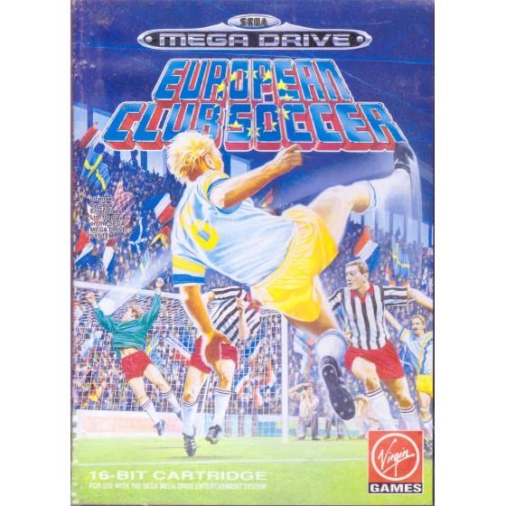 European Club Soccer - Mega Drive usato