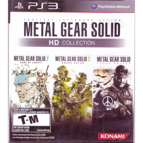 Metal Gear Solid HD Collection - USA VERSION - PS3