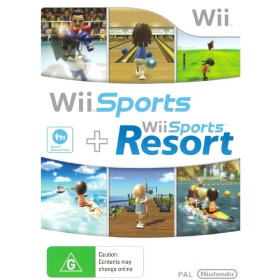 Wii Sport + Wii Sports Resort - Wii