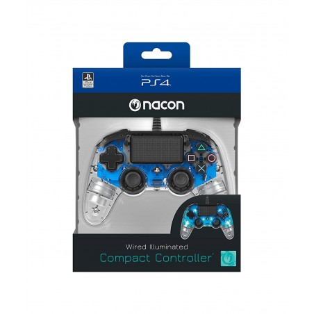 Controller Nacon Compact - Blu Luminoso - PS4