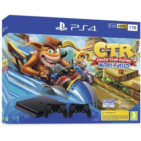 Playstation 4 Slim 1TB + Crash Team Racing Nitro Fueled + 2° Dualshock 4