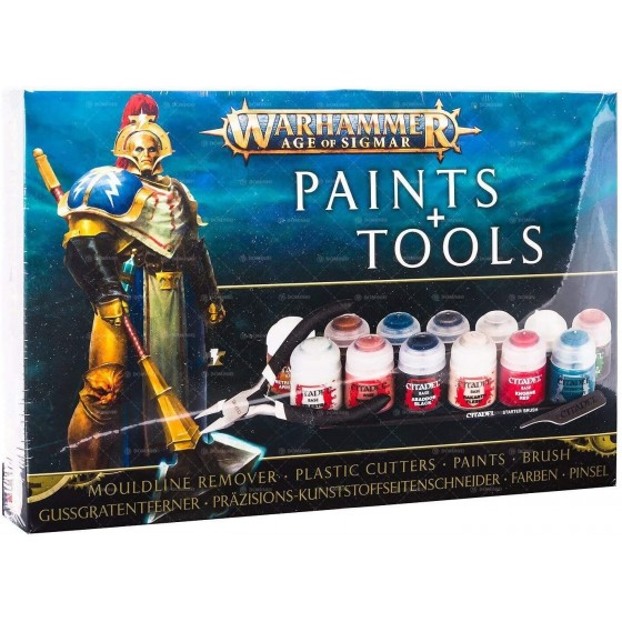 Warhammer Age of Sigmar - Paints & Tools Set -The Gamebusters