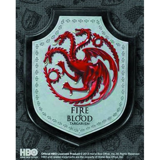 The Noble Collection Replica - Targaryen House Sigil Targa - Game Of Thrones
