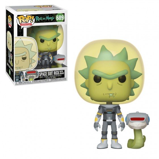 Funko Pop! -Space Suit Rick With Snake (689) - Rick & Morty