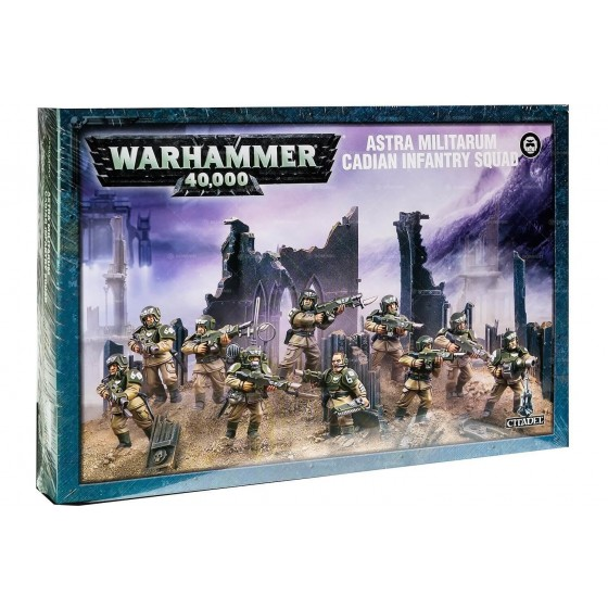 Warhammer 40.000 - Astra Militarum Cadian Infantry Squad - The Gamebusters