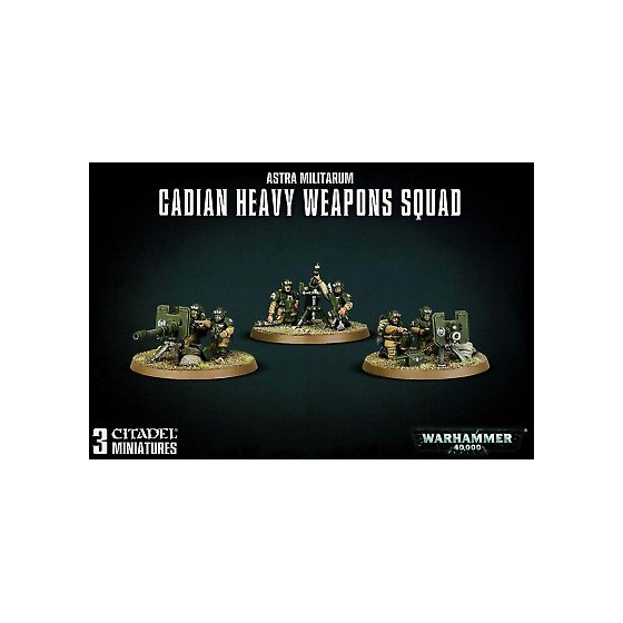 Warhammer 40.000 - Astra Militarum Cadian Heavy Weapons Squad - The Gamebusters