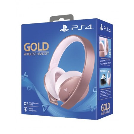Cuffie Gold Wireless - Rosa - PS4