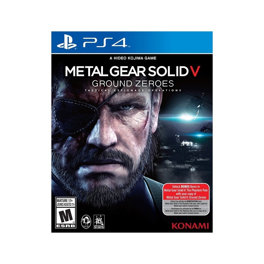 Metal Gear Solid V Ground Zeroes per ps4