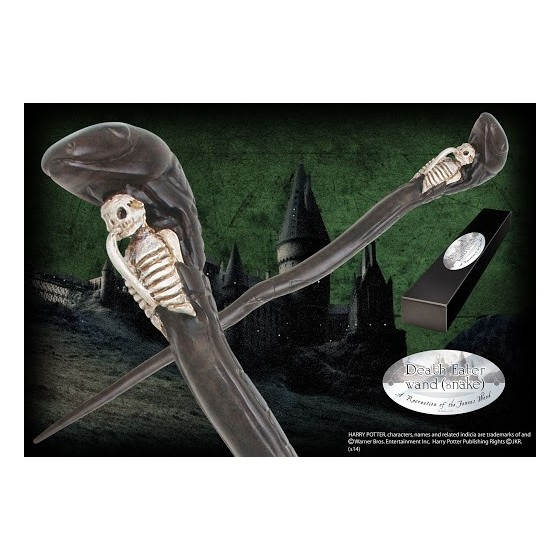 The Noble Collection Replica - Bacchetta di Death Eater wand Snake - Harry Potter