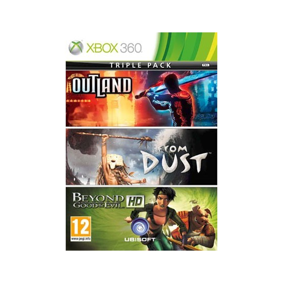 Compilation Outland + From Dust + Beyond God & Evil - Xbox 360 usato