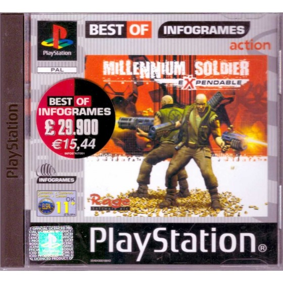 Millennium Soldier Expendable - Best of Infogrames - PS1