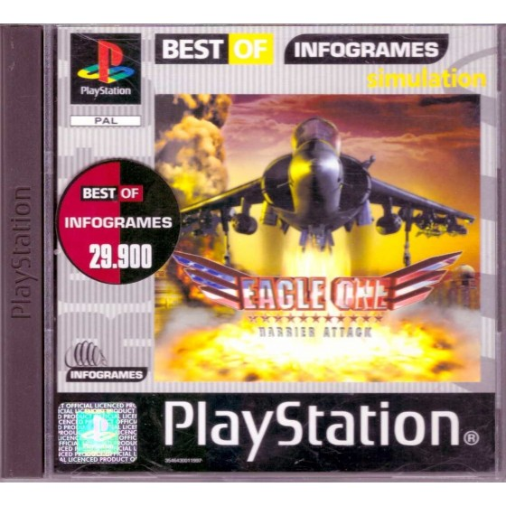 Eagle One Harrier Attack - Best of Infogrames - PS1