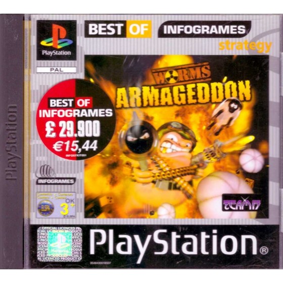 Worms Armageddon - Best of Infogrames - PS1