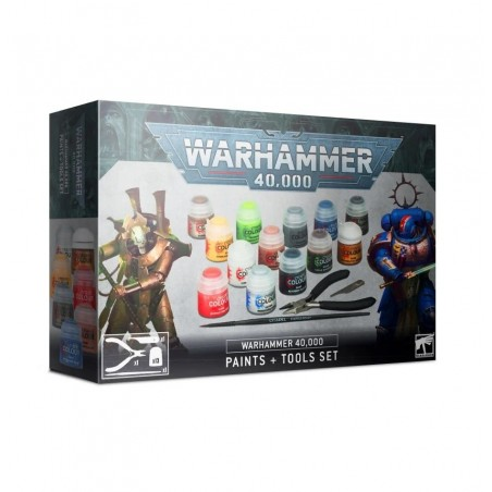 Warhammer 40.000 - Paints + Tools Set