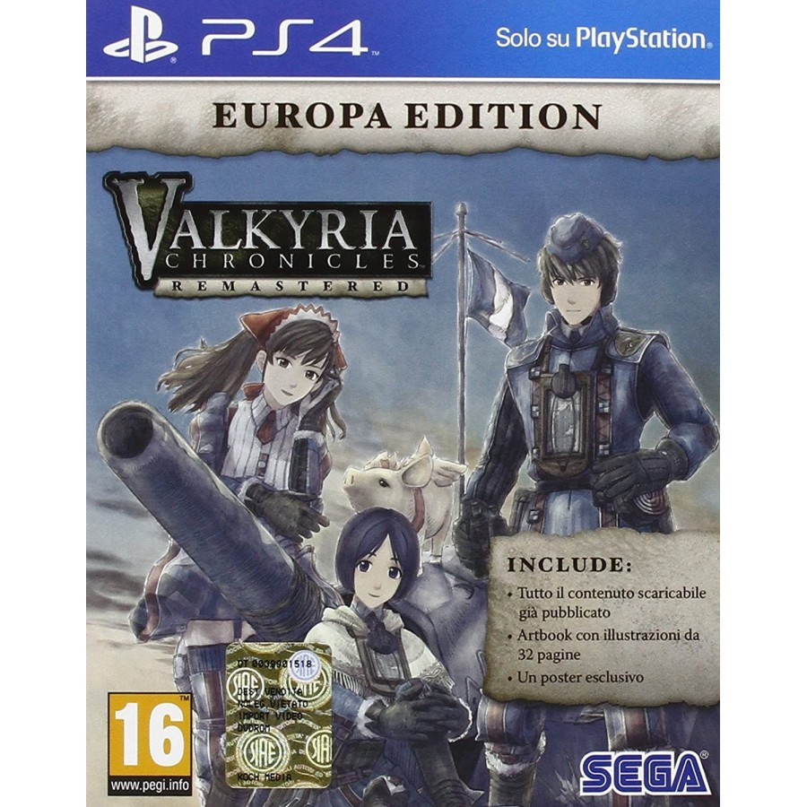 Valkyria Chronicles: Remastered - Europa Edition - PS4