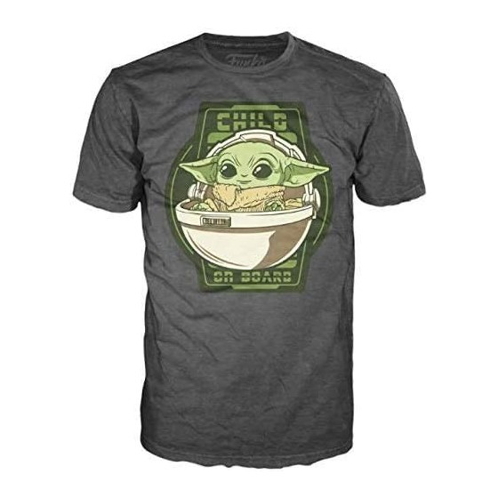 Funko T-Shirt - Child on Board - Star Wars The Mandalorian