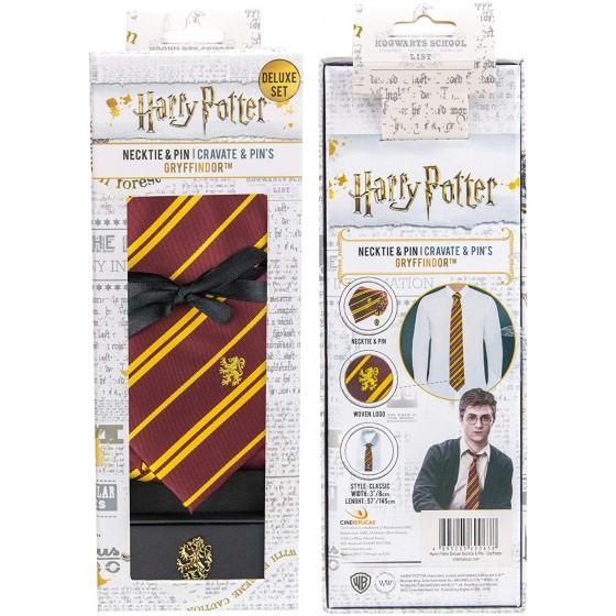 Cravatta con Spilla Grifondoro - Edizione Deluxe - Harry Potter - Cinereplicas