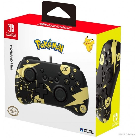 Controller Horipad Mini - Pikachu Black & Gold - Nintendo Switch - The Gamebusters