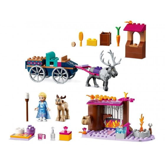 LEGO - Disney - L'avventura sul carro di Elsa - 41166
