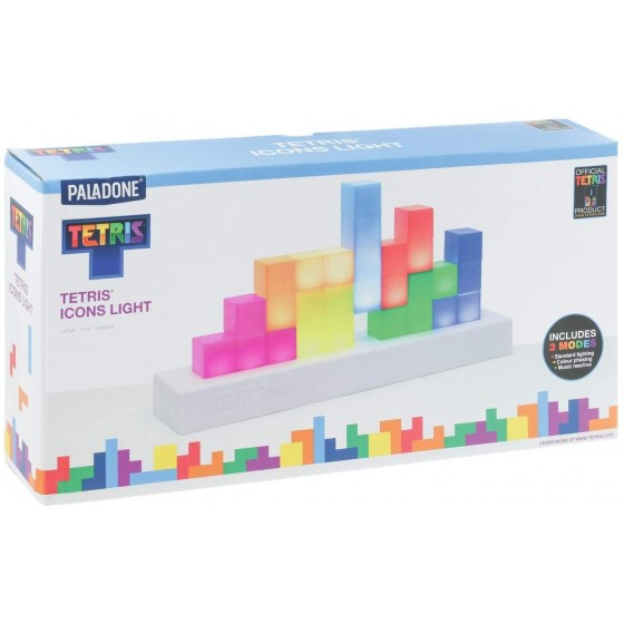 Paladone - Lampada Tetris Icons Multicolore - The Gamebusters 1
