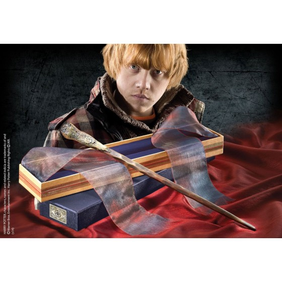 The Noble Collection Replica - Bacchetta di Ron Weasley (Deluxe Edition) - Harry Potter