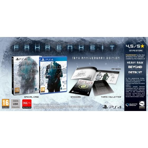 Fahrenheit - 15th Anniversary Edition - PS4 usato